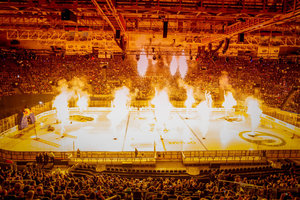 <p>Eishockey in der Olympiahalle<br/>Foto: Red Bull München<br/></p>