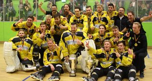 <p> Deutscher Skaterhockey-Meister 2018: Die Crash Eagles Kaarst.Foto: Mayer</p><br/>