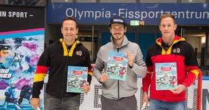 Felix Neureuther stellt in München zweites Kinderbuch mit Marco Sturm und Marcus Kink vor