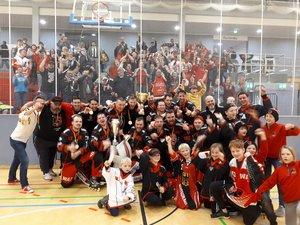 12:10 im dritten Finale in Kaarst: SHC Rockets Essen sind deutscher Skaterhockey-Meister