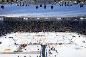 Event Game in der DEL2: Fußballstadion oder Skisprungschanze – Bad Nauheim, Dresden und Crimmitschau kandidieren