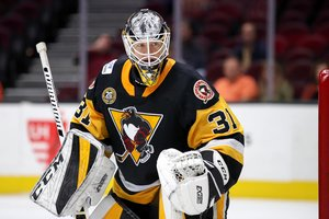 <p>Anthony Peters im Trikot der Wilkes-Barre/Scranton-Penguins. <br/>Foto: imago images/Icon SMI/Frank Jansky<br/></p>