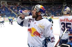 <p>Brooks Macek in Trikot des EHC Red Bull München. <br/>Foto: City-Press<br/></p>