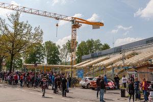 Unbekannte drangen am Wochenende in Baustelle am Landshuter Eisstadion ein und randalierten