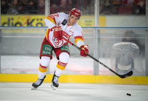Düsseldorfs Leon Niederberger ist nach seiner schweren Schulterverletzung auf dem Weg zurück auf das Eis