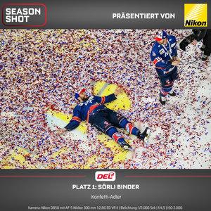 DEL und Nikon küren das Foto der Saison 2018/19: Mannheims Matthias Plachta ziert das Gewinnerfoto