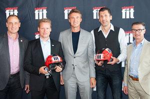 Roter Helm statt Gold-Helm: Fitnesskette clever fit nun auch Sponsor des Top-Scorer-Helms in der DEL2