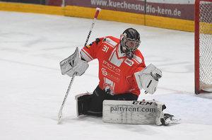 Torhüter Felix Bick vom EC Bad Nauheim ist der Spieler des Monats Dezember in der DEL2
