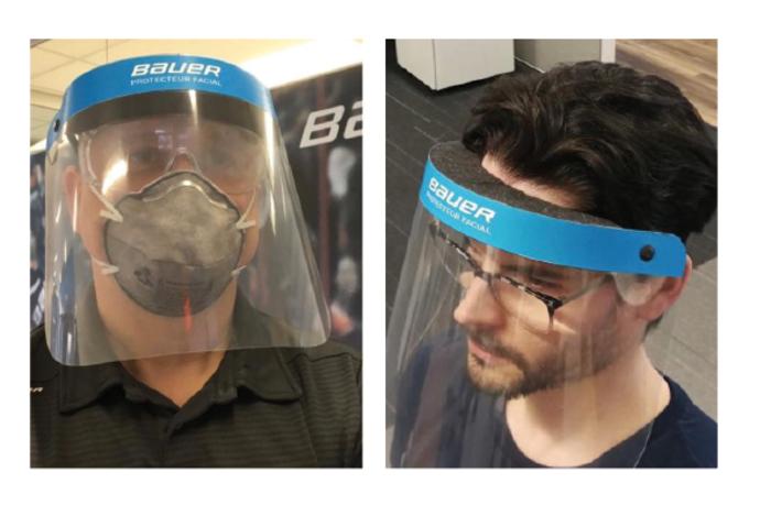 Schutzschilde statt Eishockeyausrüstung: Bauer will im Kampf gegen Coronavirus medizinisches Personal mit neuem Produkt unterstützen