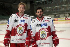 Robbie Czarnik und Mathieu Pompei: Ravensburg Towerstars holen Sturmduo der Meistersaison aus Landshut zurück nach Oberschwaben