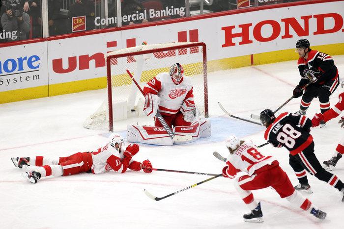 400. Kane-Treffer bei Blackhawks-Kantersieg gegen Detroit, Rieders Sabres erneut torlos – Zweites Shutout in Folge für Isles-Rookie Sorokin