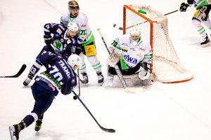 Kassel Huskies legen vor: Joel Keussen und Vinny Saponari treffen beim 2:1-Erfolg in Spiel 1 gegen Bietigheim