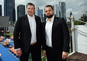 Bohuslav Subr und Jan Barta bilden das neue Trainer-Duo bei den Löwen Frankfurt