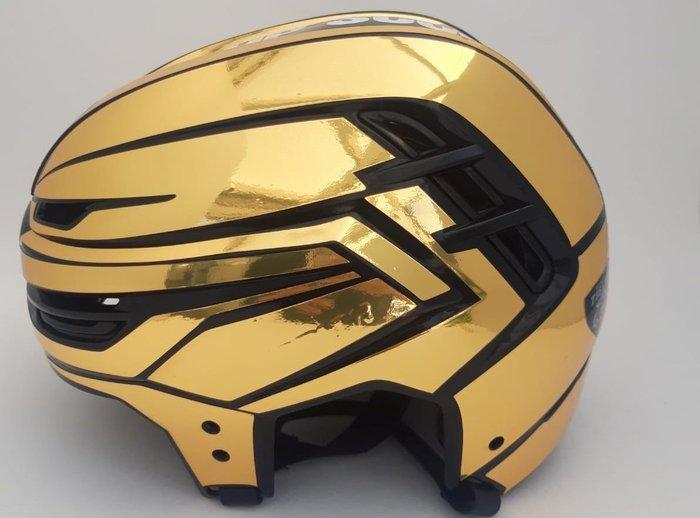 Vorerst ohne Vermarktung: In der DEL2 trägt der Top-Scorer des Clubs wieder goldenen Helm